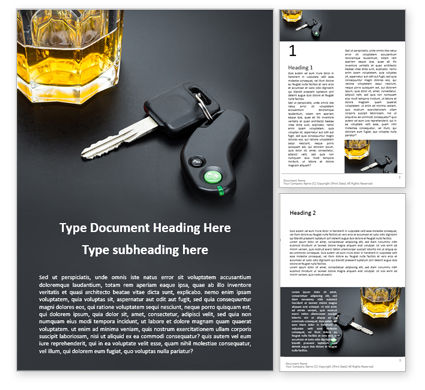 Legal: Autosleutel Op De Bar Met Alcohol In Glas Gratis Word Template #16068