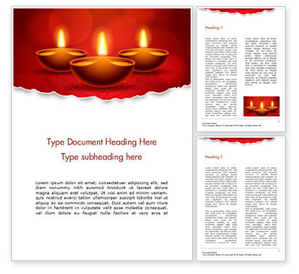 Holiday/Special Occasion: Elegant Happy Diwali Background Word Template #16086