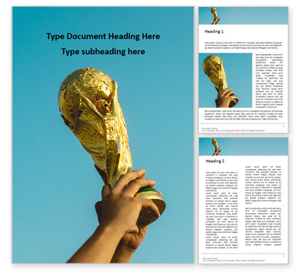 Sports: World Cup Trophy Word Template #16091