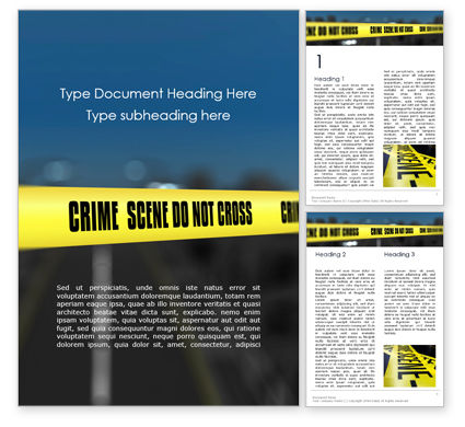 Legal: Crime Scene on a Highway Word Template #16111