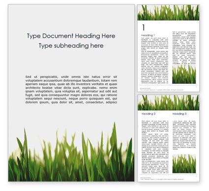 Nature & Environment: Close Up of Fresh Thick Grass Word Template #16119