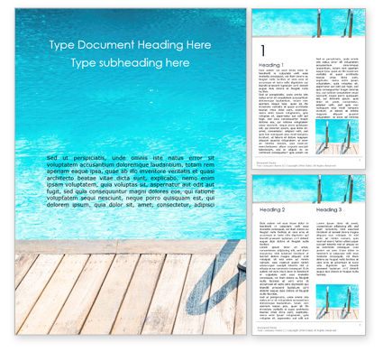 Sports: Swimming Pool Word Template #16122