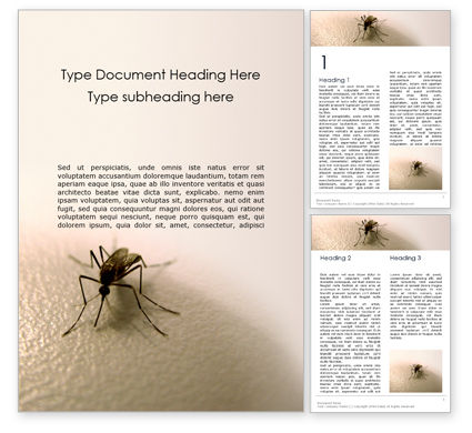 Medical: Mosquito on the Skin Word Template #16124