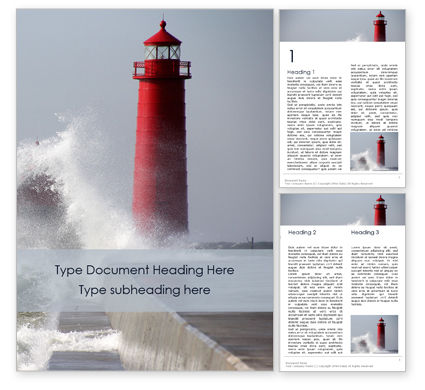 Cars/Transportation: Grand Haven Lighthouse Word Template #16125