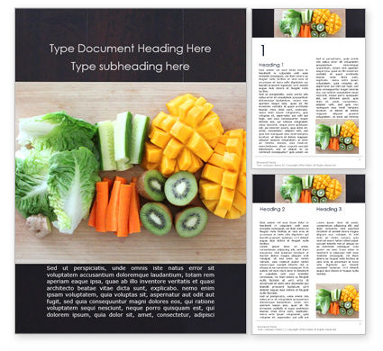 Food & Beverage: Healthy food on cutting board Kostenlose Word Vorlage #16136