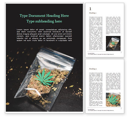 Medical: Cannabis on plastic bag免费Word模板 #16148