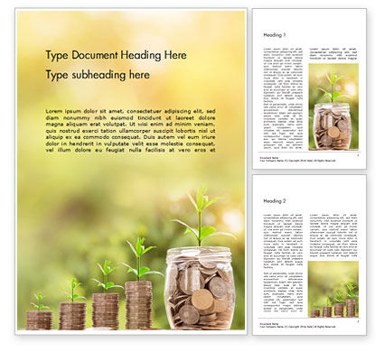 Financial/Accounting: Money Growth Concept Word Template #16149