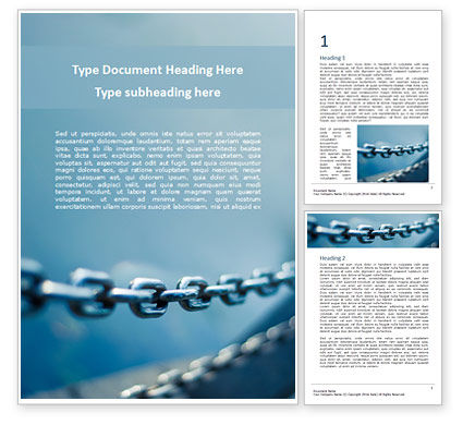 Construction: Stainless Steel Chain Word Template #16155