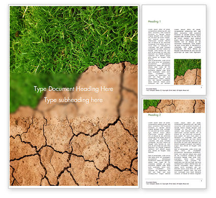 Nature & Environment: Impact of Climate Change Word Template #16160