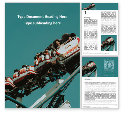 Art & Entertainment: Scary Fun on Roller Coaster Word Template #16167