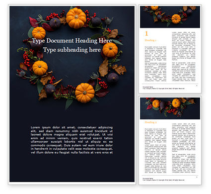 Holiday/Special Occasion: Thanksgiving Day Decorations Word Template #16169