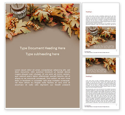 Holiday/Special Occasion: Autumn and Thanksgiving Concept Word Template #16170