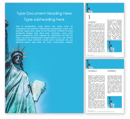 America: Statue Of Liberty National Monument Word Template #16174
