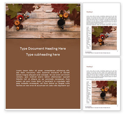 Art & Entertainment: Autumn Pumpkin Decoration Word Template #16178