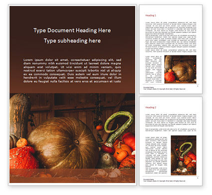 Holiday/Special Occasion: Plantilla de Word gratis - still life with pumpkins #16183