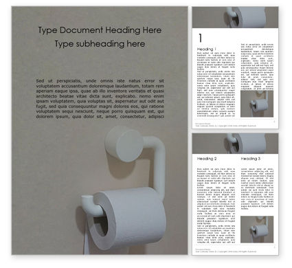 General: Roll of Toilet Paper in The Holder Word Template #16204