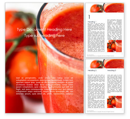 Food & Beverage: Tomato Juice Word Template #16205