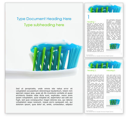 Medical: Toothbrush with Toothpaste Word Template #16206