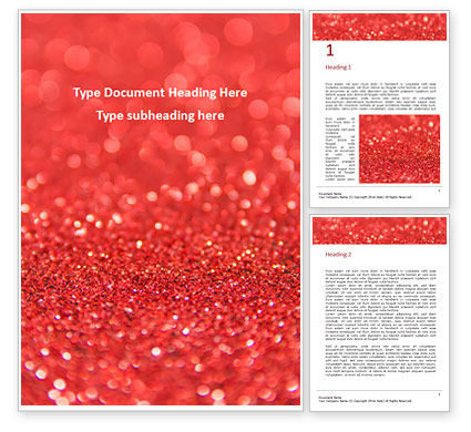 Abstract/Textures: Glowing Red Glitter Texture Background Word Template #16224