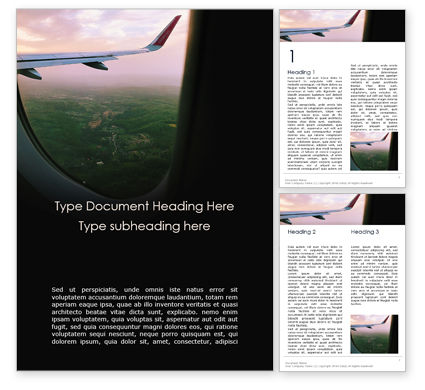 Cars/Transportation: View Through Airplane Window Word Template #16229
