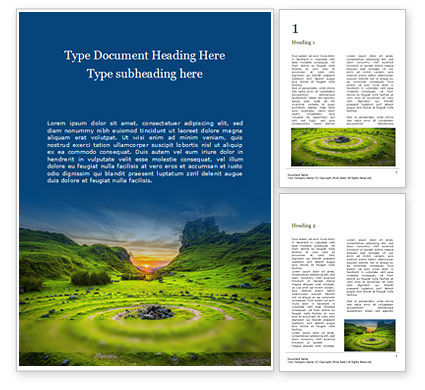 Nature & Environment: Stone Circles Word Template #16237