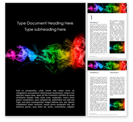 Abstract/Textures: Beautiful Colorful Smoke on Black Background Word Template #16245