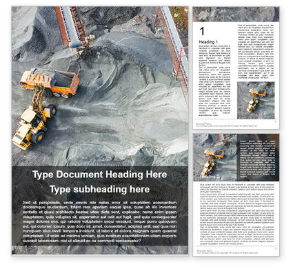 Utilities/Industrial: Coal Mining from Above Word Template #16249
