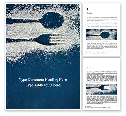 Food & Beverage: Top view of cutlery silhouette made with flour Kostenlose Word Vorlage #16255