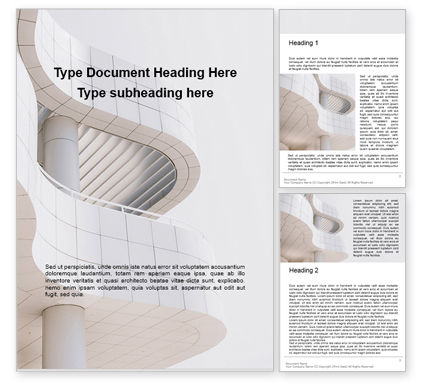 Construction: Worm's Eye View On White Concrete Building Gratis Word Template #16270