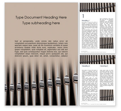 Art & Entertainment: Organ Pipes Word Template #16275