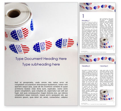 America: Roll of I Voted Stickers Word Template #16278