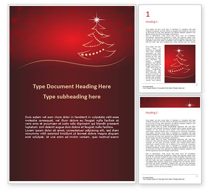 Holiday/Special Occasion: Christmas Greeting Card Background Word Template #16290