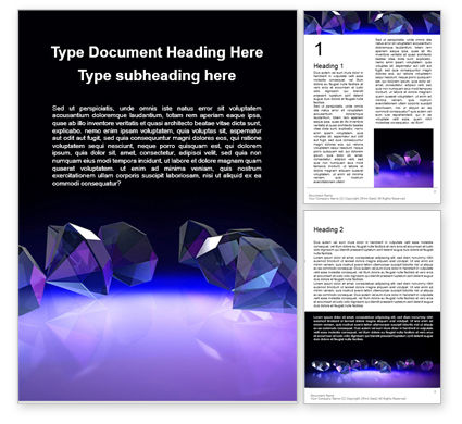 Careers/Industry: Group of Diamonds on Black Background Word Template #16294