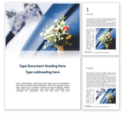 Holiday/Special Occasion: groom flower closeup - 無料Wordテンプレート #16338