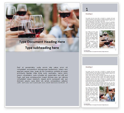 Food & Beverage: Wine and Food Festival Word Template #16357