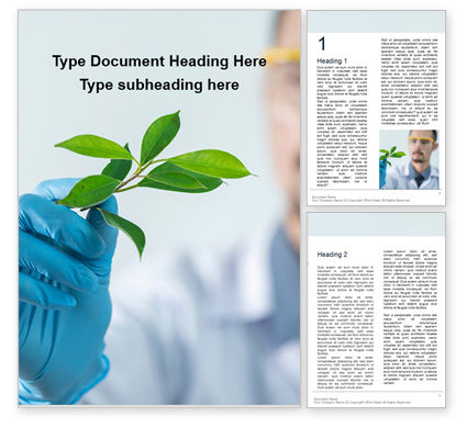Technology, Science & Computers: Scientist Is Examining Samples Of Plants Gratis Word Template #16364