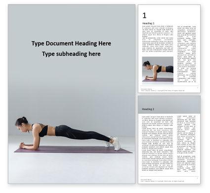 Sports: Isometric Core Strength Exercise Word Template #16375
