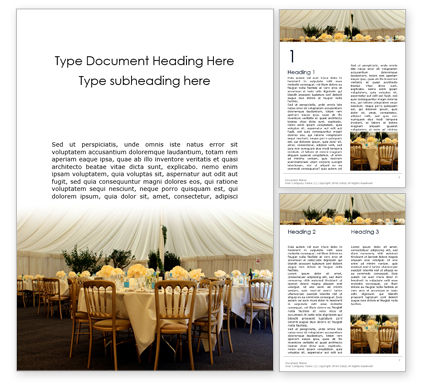 Holiday/Special Occasion: Wedding Catering Word Template #16377