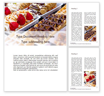 Food & Beverage: Cooked Desserts Word Template #16408