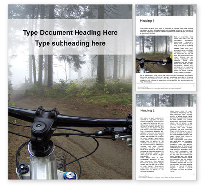 Sports: View From Bikers Eyes Word Template #16428