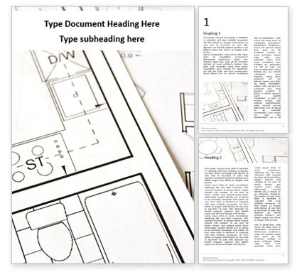 Careers/Industry: Apartment Plan Word Template #16448