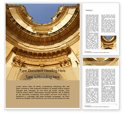 Construction: Chiesa di Montevergine Noto Word Template #16474