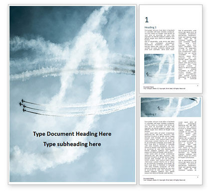 Cars/Transportation: Air Show Word Template #16477