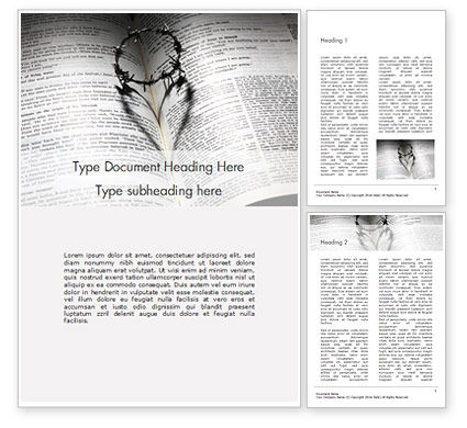 Religious/Spiritual: Crown of Thorns on Bible Word Template #16479