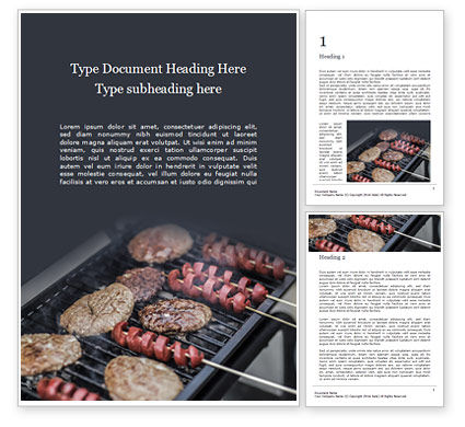 Food & Beverage: Plantilla de Word - barbecue presentation #16483