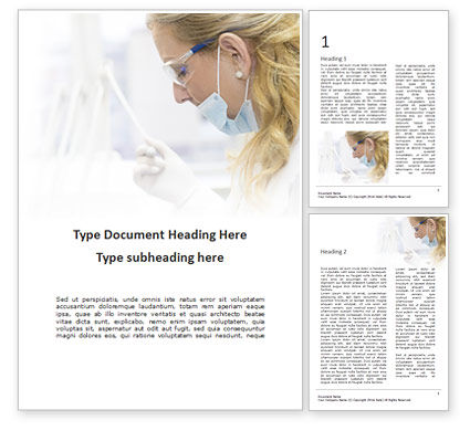 Medical: Female Dentist Presentation Word Template #16489