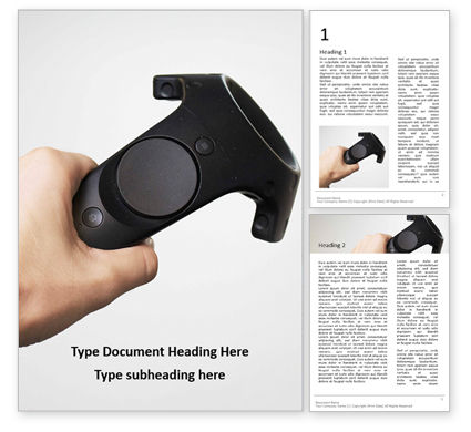 Technology, Science & Computers: Vr Controller Presentation Word Template #16503
