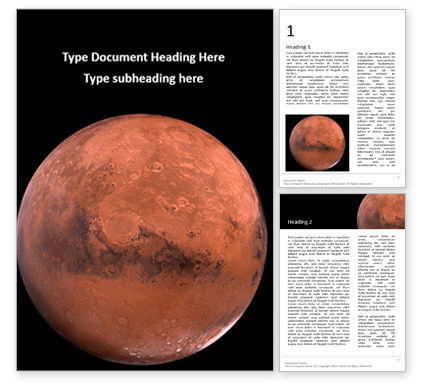 Technology, Science & Computers: Mars Presentation Word Template #16504