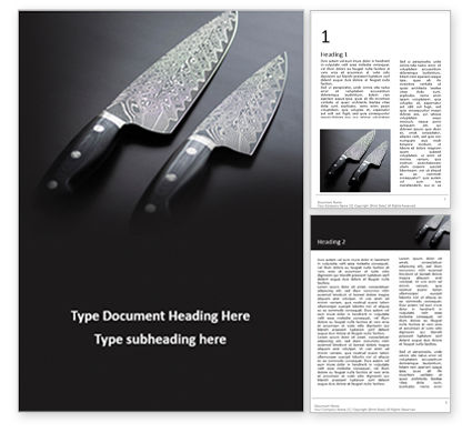 Food & Beverage: Exclusive knives presentationWord模板 #16540