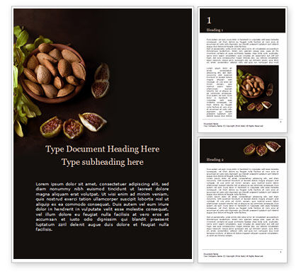 Food & Beverage: Plantilla de Word - almonds and figs presentation #16546